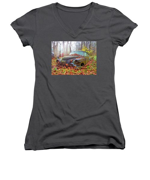 Ol' 49 Chevy Coupe Women's V-Neck (Athletic Fit)