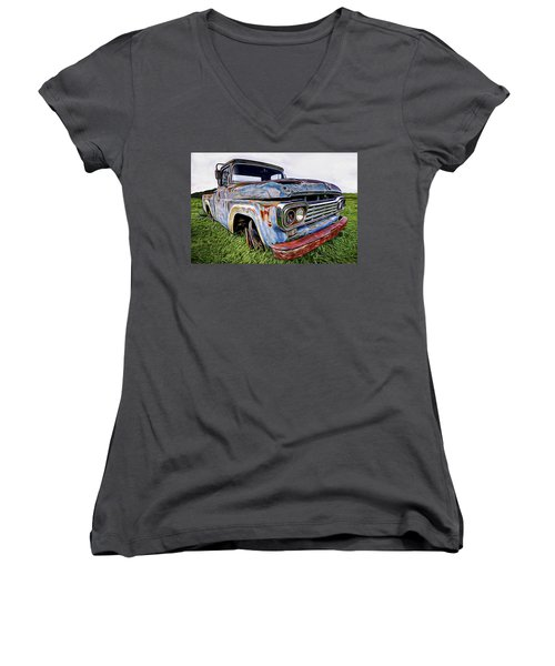 Ol' Blue Women's V-Neck