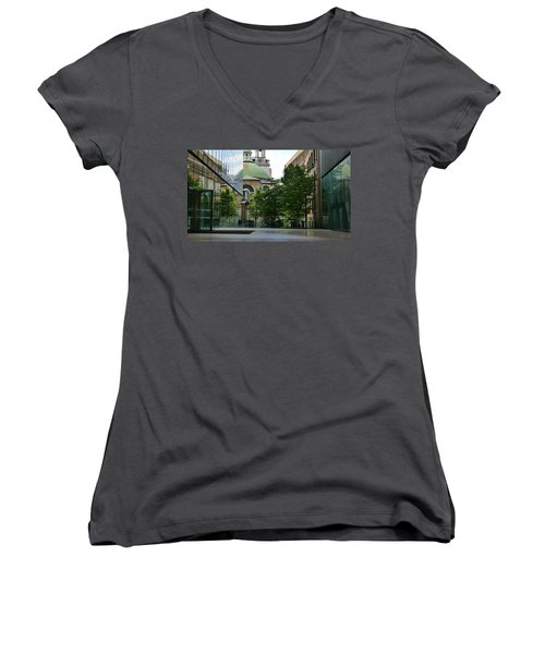 Old And New Buildings In London Women's V-Neck (Athletic Fit)