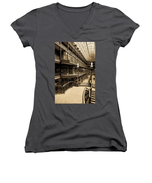 Old Arcade Women's V-Neck