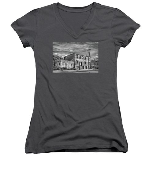 Old Asheville Building Women's V-Neck
