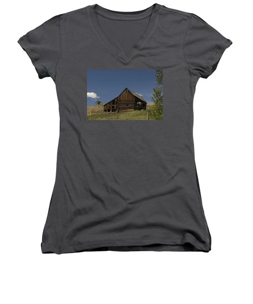 Old Barn 2 Women's V-Neck (Athletic Fit)