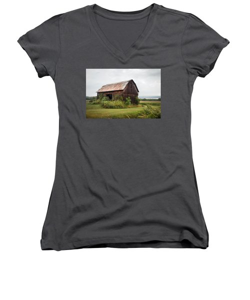 Old Barn On Seneca Lake - Finger Lakes - New York State Women's V-Neck (Athletic Fit)