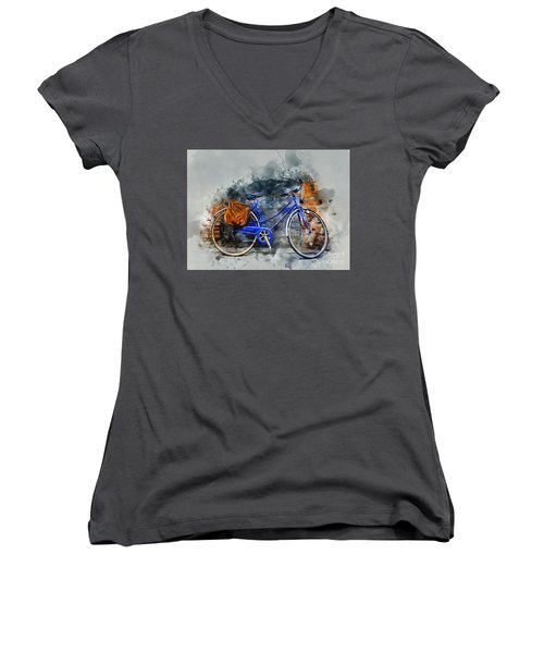 Old Bicycle Women's V-Neck T-Shirt
