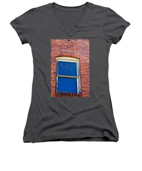 Old Brick Building Women's V-Neck