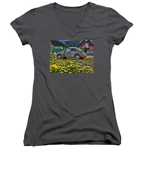 Old Bug Women's V-Neck T-Shirt
