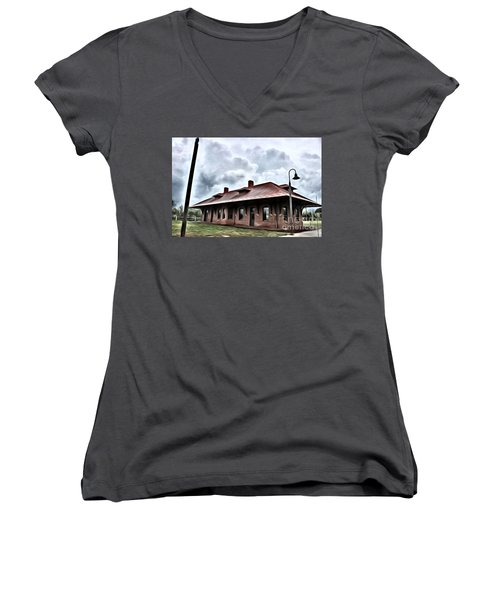 Old Burkeville Station Women's V-Neck T-Shirt