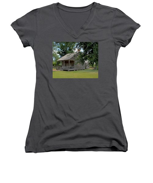 Old Cajun Home Women's V-Neck (Athletic Fit)