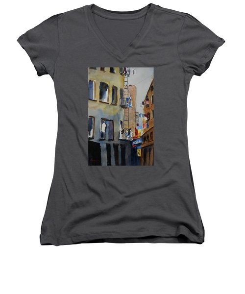 Old Chinatown Lane Women's V-Neck T-Shirt