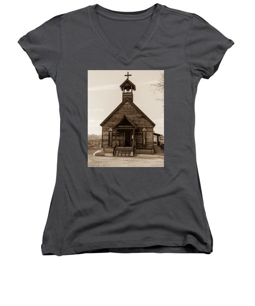 Old Church Women's V-Neck T-Shirt