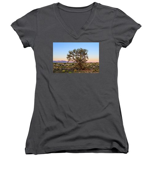 Old Growth Cholla Cactus View 2 Women's V-Neck