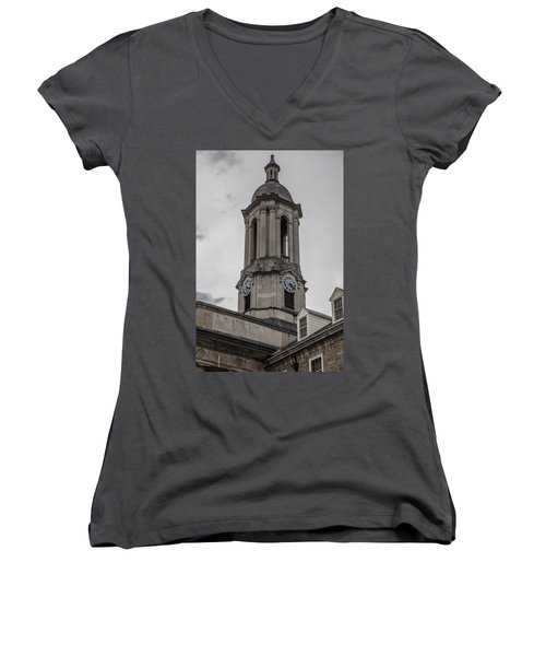 Old Main Penn State Clock  Women's V-Neck
