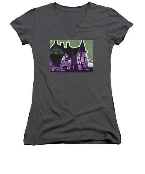 Old Meets New Women's V-Neck T-Shirt (Junior Cut) by Robert Henne