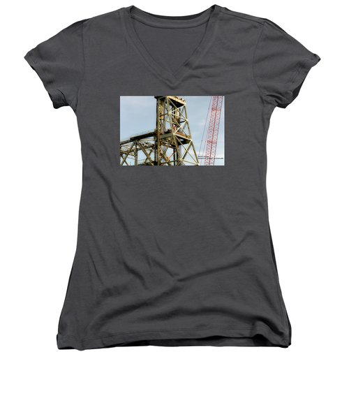 Old Memorial Bridge Women's V-Neck T-Shirt