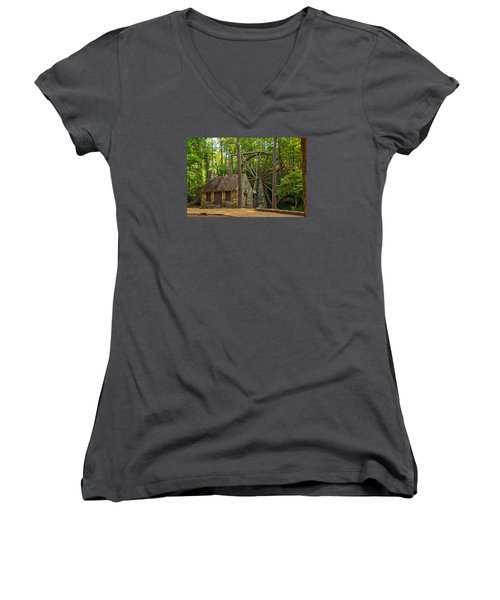 Old Mill At Berry College Women's V-Neck (Athletic Fit)