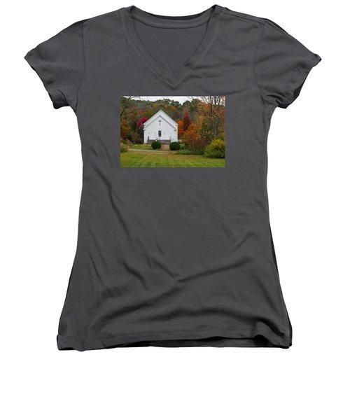 Old New England Church Women's V-Neck