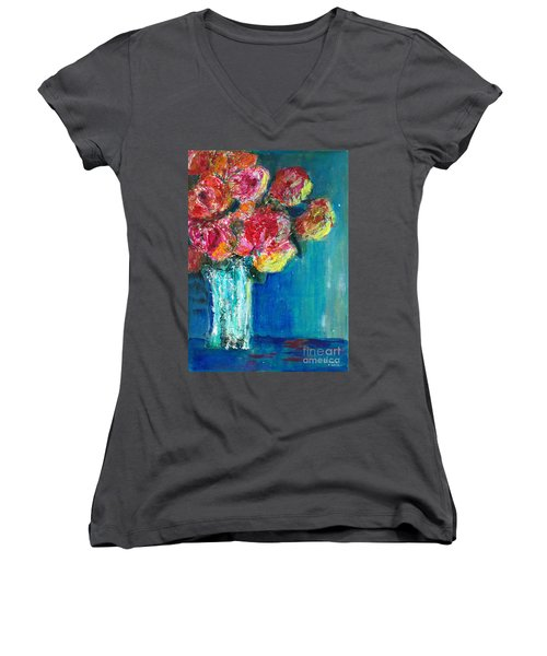 Old Roses Women's V-Neck T-Shirt
