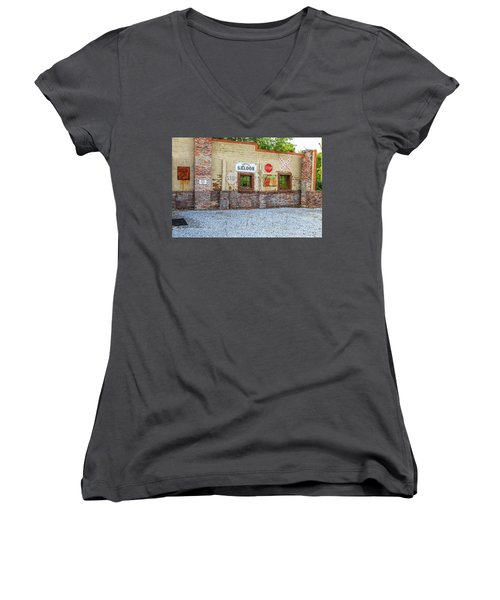 Old Saloon Wall Women's V-Neck