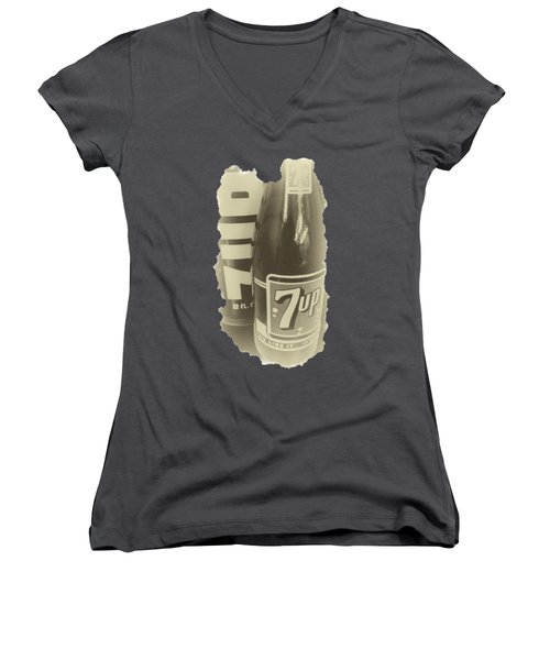 Old School 7up Women's V-Neck (Athletic Fit)