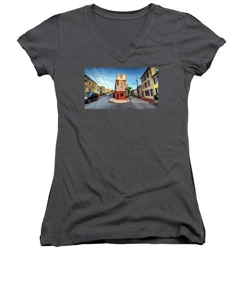 Old School Annapolis Women's V-Neck T-Shirt