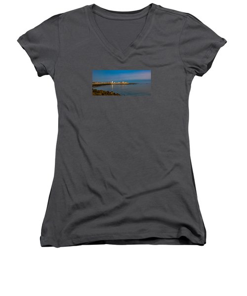Old Scituate Light From The Jetty Women's V-Neck