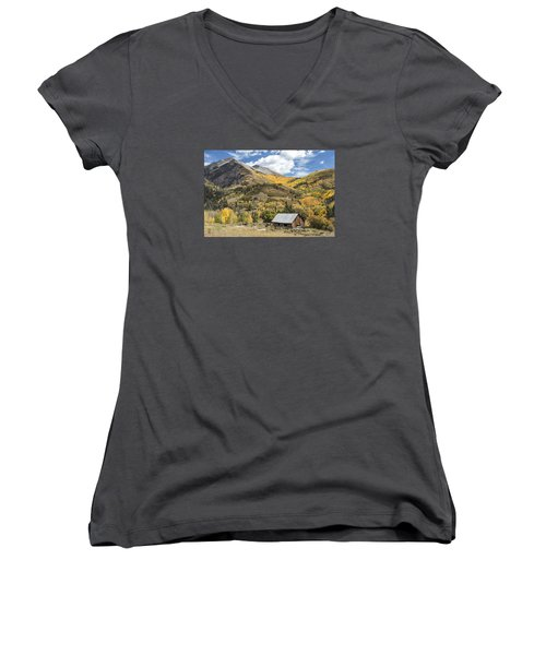 Old Shack And Equipment Women's V-Neck (Athletic Fit)