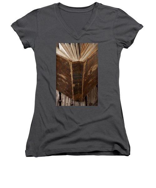 Old Shakespeare Book Women's V-Neck