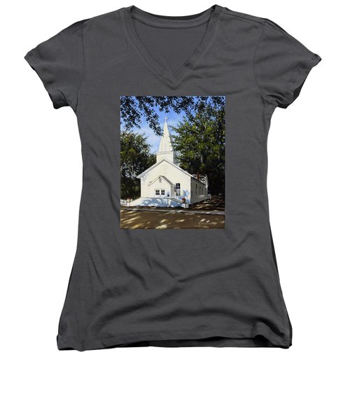 Old St. Andrew Church Women's V-Neck (Athletic Fit)