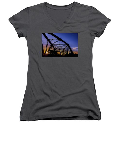 Old Steel Bridge Women's V-Neck