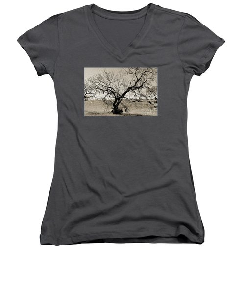 Old Texas Frontier  Women's V-Neck (Athletic Fit)