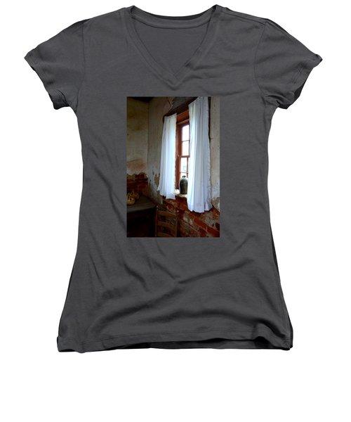 Old Time Window Women's V-Neck T-Shirt