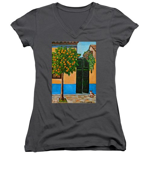 Old Times Neighborhood Women's V-Neck (Athletic Fit)