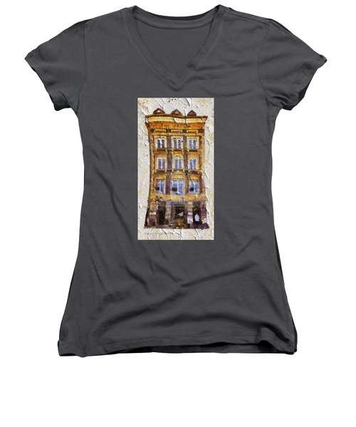 Old Town In Warsaw #21 Women's V-Neck (Athletic Fit)