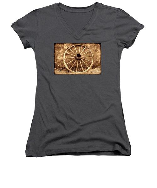 Old Wagon Wheel Women's V-Neck