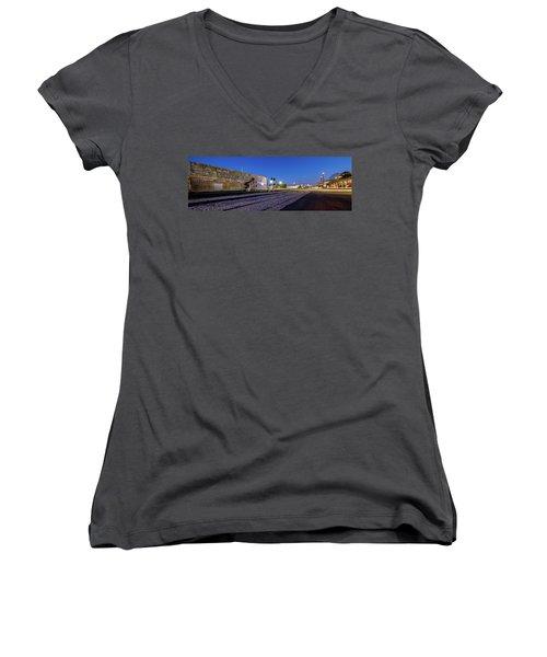 Old Wall Signage - San Antonio  Women's V-Neck T-Shirt (Junior Cut)