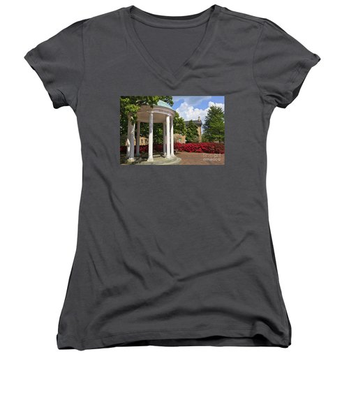 Old Well At Chapel Hill In Spring Women's V-Neck (Athletic Fit)