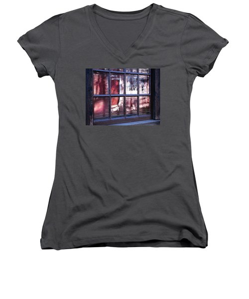 Olde Glass Women's V-Neck (Athletic Fit)