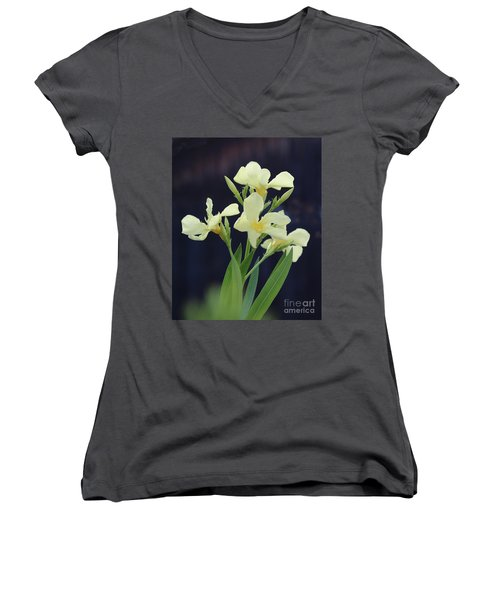 Women's V-Neck T-Shirt (Junior Cut) featuring the photograph Oleander Marie Gambetta 2 by Wilhelm Hufnagl