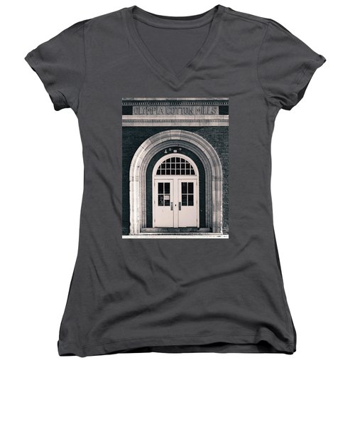 Olympia Cotton Mills Entrance B W 1 Women's V-Neck (Athletic Fit)