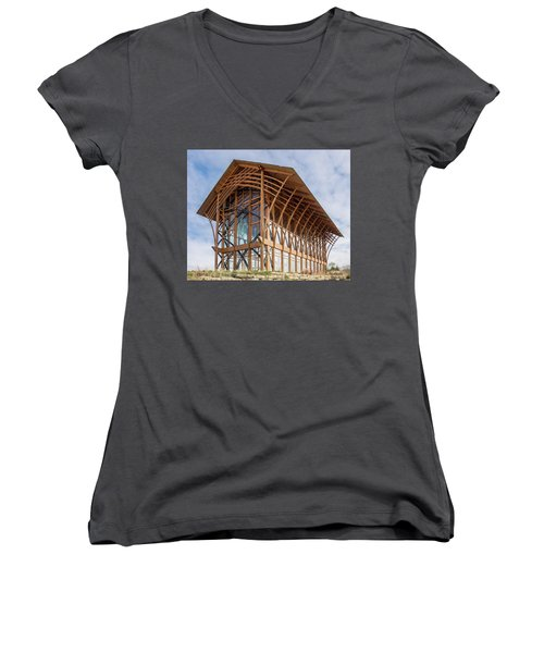 Omaha Holy Family Shrine 3 Women's V-Neck (Athletic Fit)