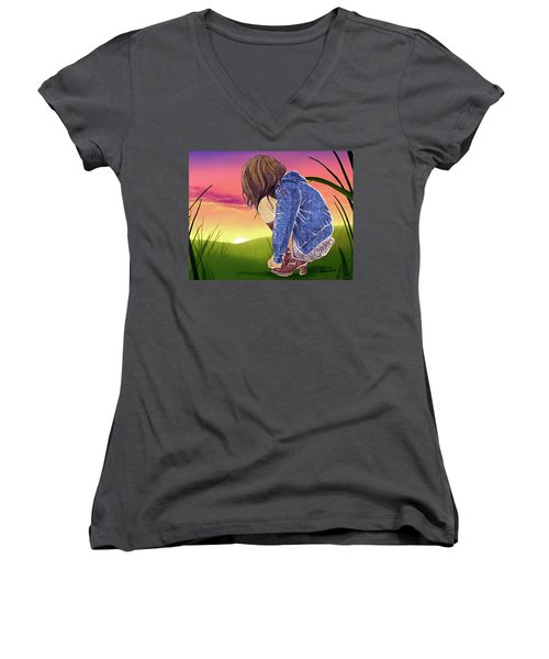 One Moment In Time Women's V-Neck