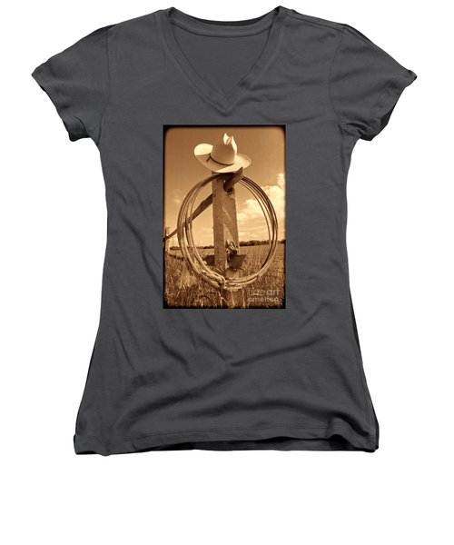 On The American Ranch Women's V-Neck