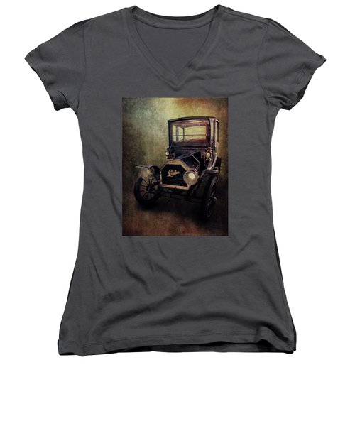 On The Day Before Yesterday Women's V-Neck T-Shirt (Junior Cut) by Iryna Goodall