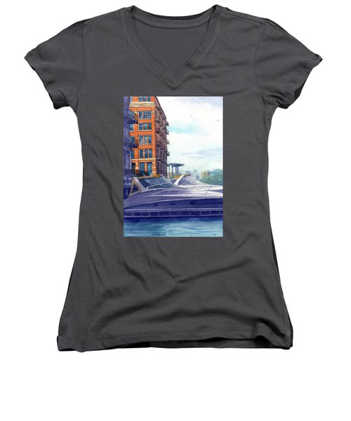 On The Docks Women's V-Neck