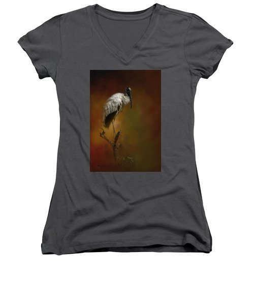 On The Fork Women's V-Neck (Athletic Fit)