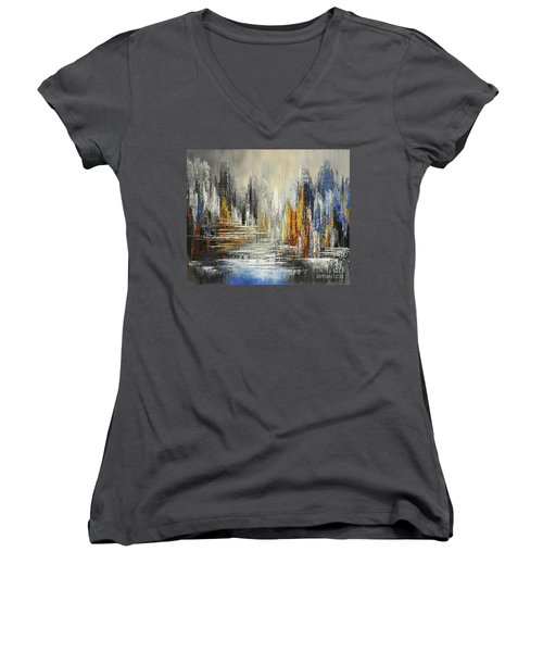 On The Hills Of Dream Women's V-Neck T-Shirt (Junior Cut) by Tatiana Iliina