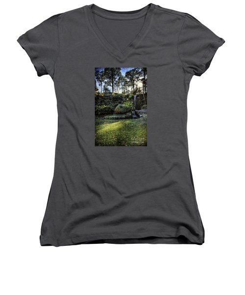 On The Horizon    Women's V-Neck T-Shirt (Junior Cut) by Ken Frischkorn