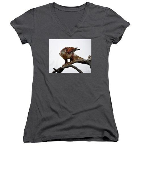 On The Hunt Women's V-Neck T-Shirt