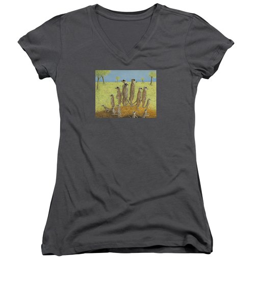 On The Lookout Women's V-Neck (Athletic Fit)