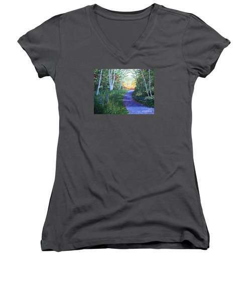 On The Path Women's V-Neck